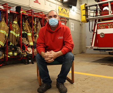 Middlesex Township Volunteer Fire Company captain Greg Vickinovac, 41, battled COVID-19 spending 13 days on a ventilator at UPMC Passavant in McCandles. The longtime fireman had no comorbidities making that could have made him more vulnerable to the virus. Doctors said for some people the severe reaction to the virus seems almost to come down to bad luck. Seb Foltz/Butler Eagle March 2021