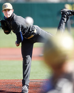 Butler's Madden Clement delivers a pitch in the second inning. Harold Aughton/Butler Eagle
