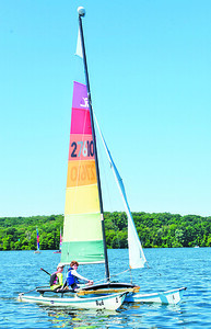 Nearly 50 campers attended the Moraine Sailing Club's Youth Sail Camp.  Harold Aughton/Butler Eagle