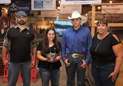 2021 Farm Family: Josh (father, left), Morgan, 15, Colt, 17, mother Jodi Teets. Seb Foltz/Butler Eagle 08/13/21