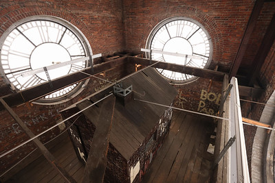 Inside the Butler County Court House clock tower -- view of the old clock operating room. Seb Foltz/Butler Eagle April 2021