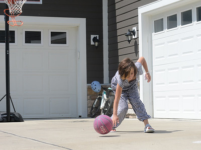 Roree, 8, of Mars, will attend PA Cyber Charter School this fall. Julia Maruca / Butler Eagle