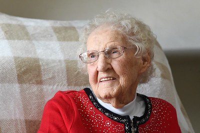 Veda McGinnis of Venango Twp. turned 107 years old on January 31, 2021. Harold Aughton/Butler Eagle.