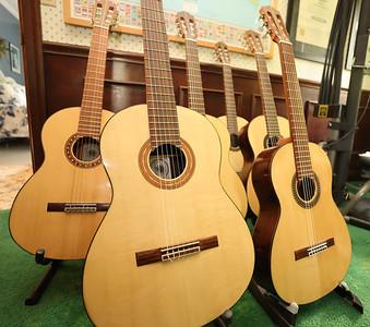 Gary Neyman's custom guitars. Seb Foltz/Butler Eagle 07/07/21