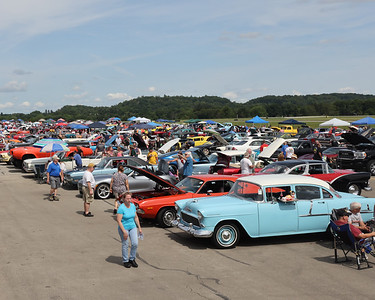 Cars of all eras were out in full force for the return of the Penn Township Mega Car Cruise at the Pittsburgh-Butler Regional Airport Saturday. Seb Foltz/Butler Eagle 2021  07/10/21