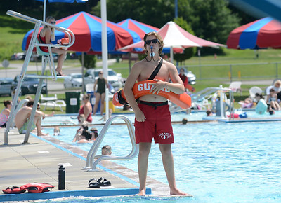 Alec Malichky, 16, of Cranberry, is in his second year of being a lifeguard at Cranberry Township Community Waterpark. PHOTO: JULIA MARUCA