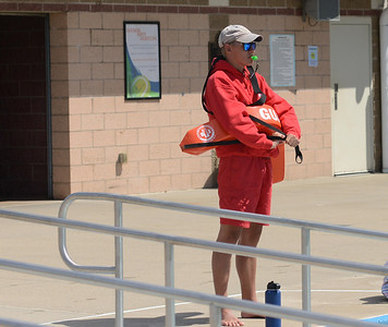 """""""I wouldn't say we're short-staffed this year,"""" said Matthew Stevens, 18, of Cranberry, who has been a Cranberry Township Community Waterpark lifeguard for the past four years. """"We've had years with less numbers. But I've heard about other pools, like Alameda Waterpark, having to close because they didn't have lifeguards."""" PHOTO: JULIA MARUCA"""
