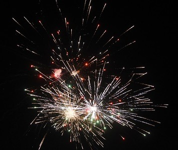 Harold Aughton/Butler Eagle: Cranberry Twp. residents were putting on quite the fireworks display Saturday evening from their backyards.