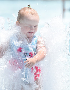 Ariella Hilliard, 2, of Butler spent the afternoon at Alameda Park with her mother, Alisha West Brook Wednesday, June 23, 2021. Harold Aughton/Butler Eagle.