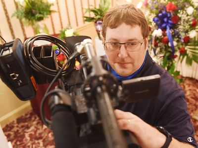 Due to Covid-19 restrictions at funerals, videographer Mark Hoffer of Evans City has seen an increase in business. Harold Aughton/Butler Eagle.