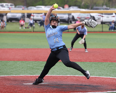 Seneca pitcher Izzy throws against Pine Richland Wednesday at home. The Raiders topped the Rams 2-1 in a come-from-behind home win. Seb Foltz/Butler Eagle 04/28/21