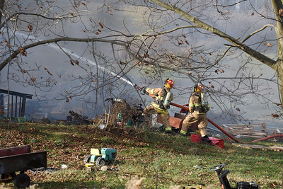 House fire on Rockdale Road in Jefferson Twp. Harold Aughton/Butler Eagle