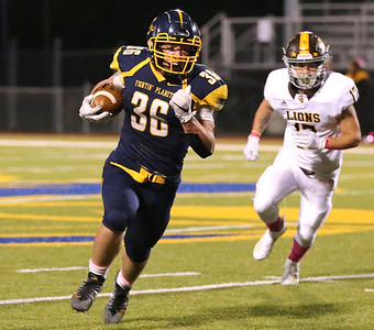 Mars running back Teddy Ruffner breaks into open field against Greensburg Salem Friday night at home. Ruffner reached the 4,000 yard mark in the 42-21 win. Seb Foltz/Butler Eagle 10/16/20