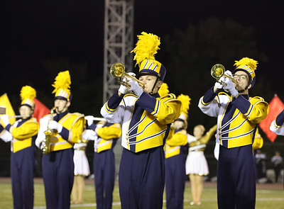 The Golden Tornado Marching Band takes the field at the Butler County Band Festival Wednesday. Seb Foltz/Butler Eagle 09/29/21