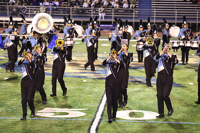 The Seneca Valley marching band performs  at the Butler County Band Festival Wednesday. Seb Foltz/Butler Eagle 09/29/21
