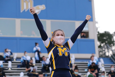 Amber O'Neil, a 10th grade student at Mars Area High School, cheers before the Mars Area High School verses Hampton game Friday, Sept. 11, 2020. During COVID-19 restrictions, attendance at outdoor events was limited to 250. SEB Foltz/Butler eagle