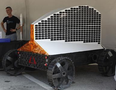Astrobotic brought a lunar rover to the Mars Exploration Celebration festival. Julia Maruca/Butler Eagle