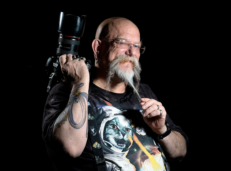 LOVELAND, CO- MAY 9, 2019:  Loveland photographer Gmark poses for a photo Thursday, May 19, 2019, in his studio at Artworks in downtown Loveland.   (Photo by Jenny Sparks/Staff Photographer)