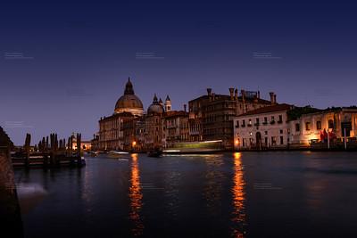 Romantic Sunset in Venice, Italy, Europe
