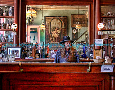 The original Birdcage Theater, known as the he wildest, roughest, honky tonk between Basin Street and the Barbary Coast, Tombstone, Arizona. Photo #710