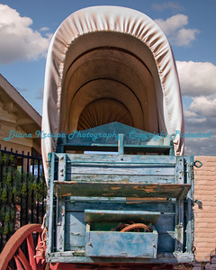Old Covered Wagon at Yuma Crossing, Yuma, AZ.  Photo #5377