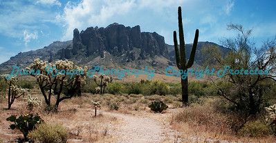 Superstition Mountain - Apache Junction, Arizona.  Photo#SM555