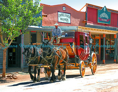 Stagecoach on Main Street, Tombstone, Arizona.  Photo #712