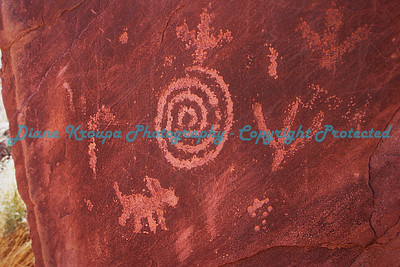 Zion National Park - Utah - Petroglyphs - with scratches from park visitors     - Photo #6747