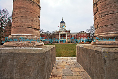 Columns at Missouri University, Columbia, MO.  Photo# 222