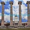 Columns at Missouri University, Columbia, MO.  Photo# 218
