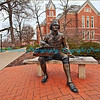 Thomas Jefferson statue at Missouri University, commons, Columbia, MO.  Photo# TJ777