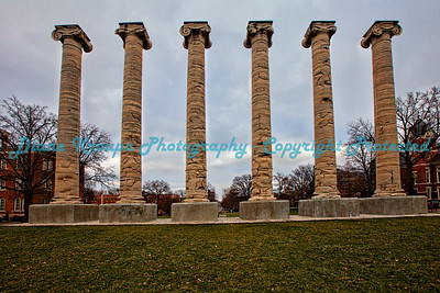 Columns at Missouri University, Columbia, MO.  Photo# 243