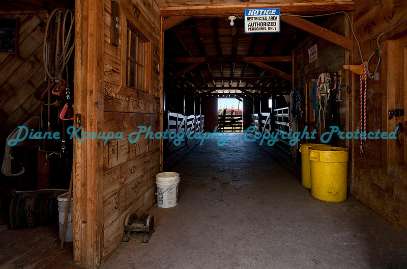 Horse Barn at Buffalo Ranch, Cheyenne, Wyoming.  Photo# B543