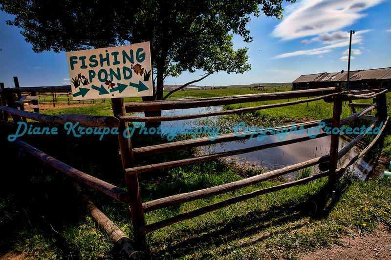 The Old Fishing Hole, Bison Ranch, Cheyenne, Wyoming.  Photo # B550