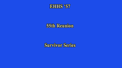 EHHS 55th Reunion - Saturday Night September 2012