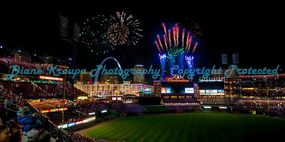 Fireworks Night at Busch Stadium, St. Louis, MO.  Photo# 369-B