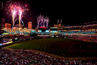 Fireworks Night, Busch Stadium, Arch,  St. Louis, MO.  Photo #290