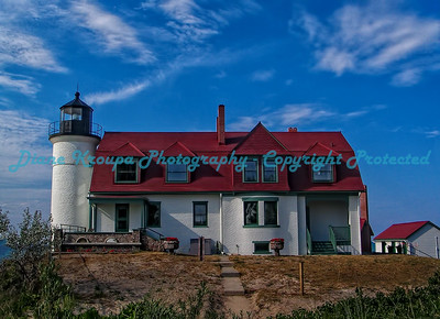 Point Betsy Light, Lake Michigan.  Photo #540