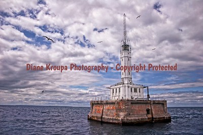 Gray's Reef Light,  Northeastern Lake Michigan.  Photo# 550