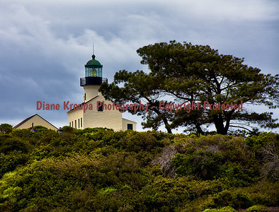 Point Loma Lighthouse - San Diego, CA.  Photo#SD502