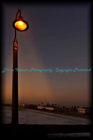 Beam of light on pier at Imperial Beach, San Diego, CA.  Photo#SD501