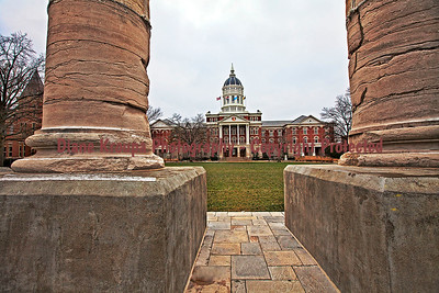 Columns at Mizzou (Missouri) University, Columbia, Missouri.  Photo# 222