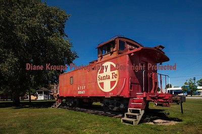 Red Caboose painted by Disney for movie, Marceline, Missouri  Photo# 52