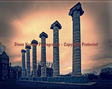 Columns at Missouri University, Columbia, MO  Photo# 240