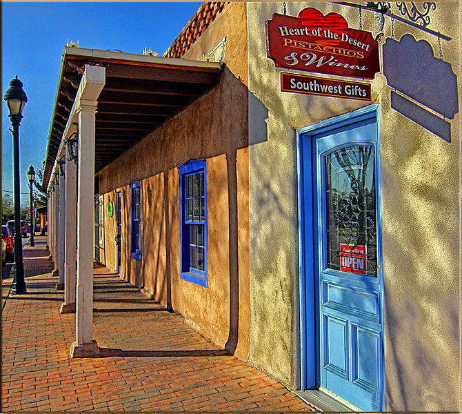 Shops in downtown Mesilla, New Mexico.  Photo #DE208