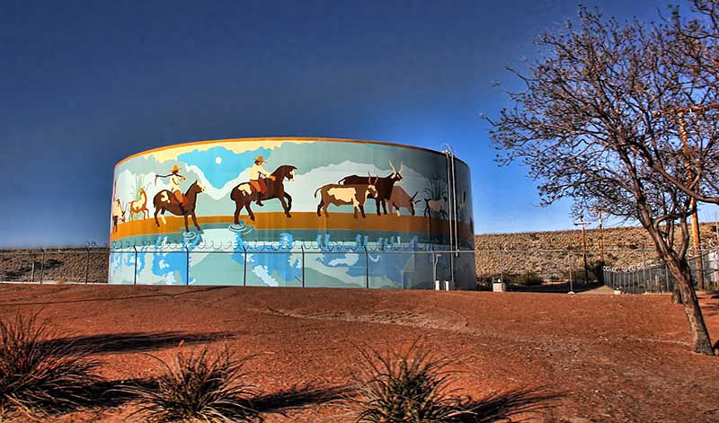 Water Tower, Las Cruces, New Mexico.  Photo #NM-111