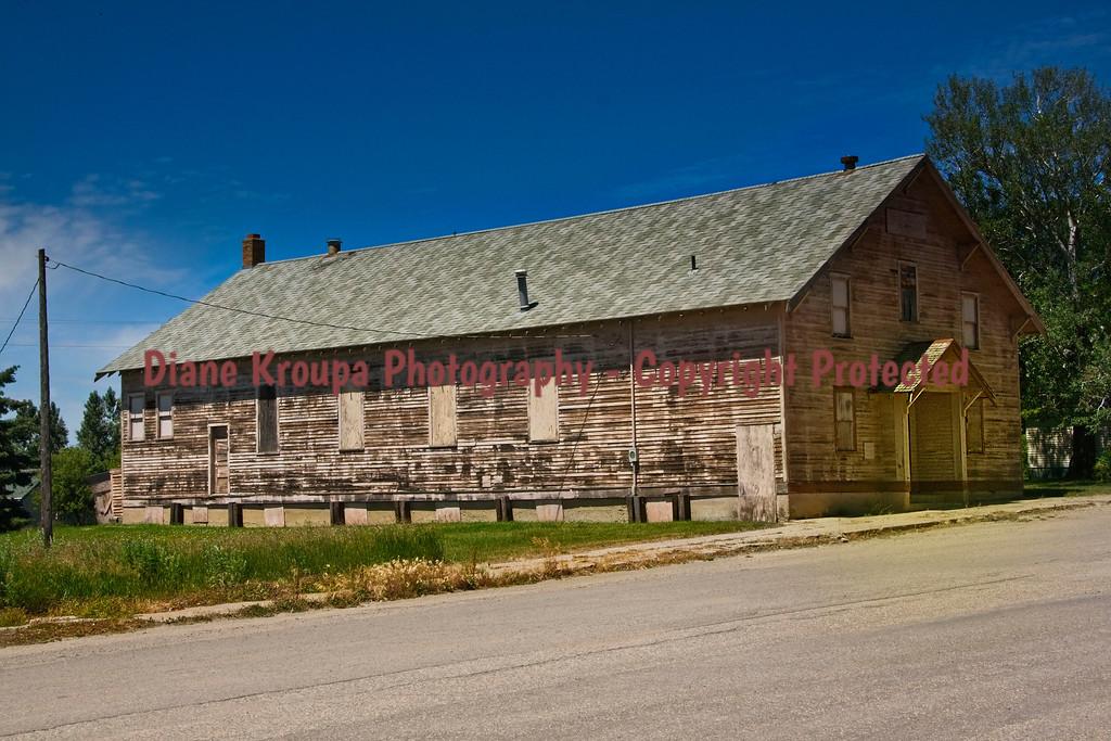 Ghost Town Boarding House-School, Cleveland, North Dakota.  Photo# 67