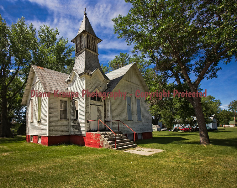 Old Church - Ghost Town - Judson, North Dakota.  Photo# 24