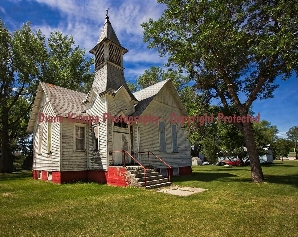 Old Church - Ghost Town - Judson, North Dakota.  Photo# 24