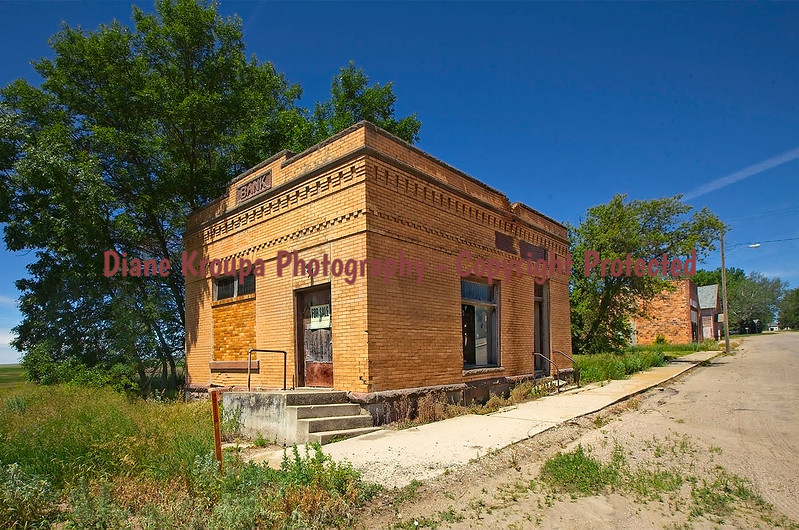 Cleveland Bank for sale, Cleveland, North Dakota Ghost Town.  Photo# 74